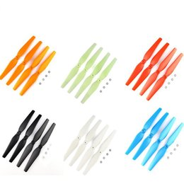 Wholesale Quadcopter Propellers - Colorful Propellers For Syma X8c x8w x8g x8hg x8hw Rc Helicopter Screws Rc Quadcopter Blade Parts Drones Spare Parts