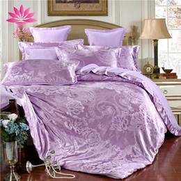 Wholesale White Jacquard King - muchun Brand Christmas Bedding Sets Solid Elegance 4 pcs Comforter Duvet Cover Bed Sheet Jacquard Home Textiles