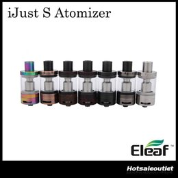 Wholesale Filling Head - New Colors iSmoka Eleaf iJust S Atomizer Huge Capacity 2ML wth New ECL 0.18ohm Head Top E-juice Filling Atomizer 100% Original
