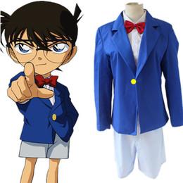 Wholesale Japanese Anime Kids Costume - Conan Edogawa cosplay costumes Japanese anime Detective Conan,Case Closed clothing Masquerade Mardi Gras Carnival costumes