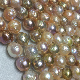 Wholesale Large Oval Beads - Large 9-11mm White Oval Shape Baroque Cultured Pearl Genuine Freshwater Pearls Loose Beads Strand