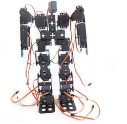 Wholesale Robot Remote Controller - F17327 17DOF Biped Robotic Educational Robot Humanoid Robot Kit Servo Bracket with Remote Controller