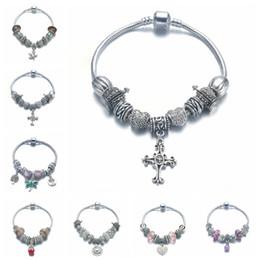 Wholesale Pandora Cross Charm New - Pandora Style Ancient Silver Chain Bracelets 2017 New Style Charm Bracelet Jewelry Accept Wholesale