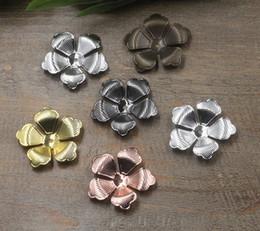 07371 30mm bronze antique argent bronze pistolet en or rose noir filigrane fleur charmes pour la fabrication de bijoux, bricolage perle collier collier pendentifs pour bracelet ? partir de fabricateur