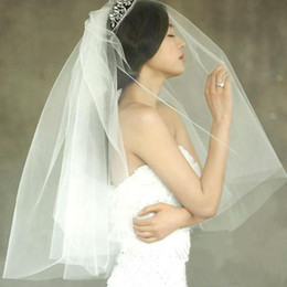 Wholesale Crochet Models - The new 2017 han edition style wedding veil Insert double combed yarn can be covered face short model