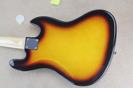 Wholesale Sunset Guitar - Free shipping Banjo left-handed electric bass guitar JAZZ BASS sunset colors guitar