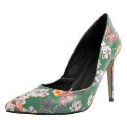 beb6a5dbfad604 Kolnoo Womens Fashion Handmade New Arrival Slip-on Patchwork Shoes Pointy  Party Dress Print Fllower High Heel Sexy Pumps XD378