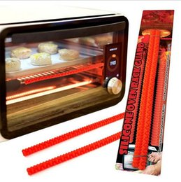 Wholesale Rack Ovens - Oven Rack Guards Interlocking Silicone High Temperature Protection Oven Shelf Edge Guards Rack Shield 2pcs set OOA1920