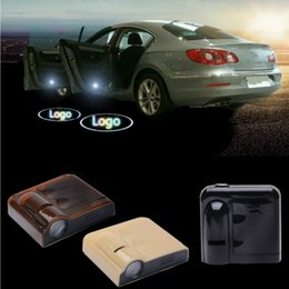 Wholesale lighted car emblems - 2 X LED car door light ghost shadow welcome light logo projector emblem Wireless No Drilling for Citroen c2 c3 c4 c5 xsara
