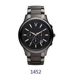 Wholesale Lover Watches Sale - Free shipping 2017 hot sale ar1451 ar1452 black ceramics band men's classcia quartz wristwatch gift watch good gift to lover+original box