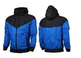 Wholesale Ladies Hooded Windbreaker - US size selling free shipping new spring fall hooded jacket men's ladies sportswear clothes windbreaker coat sweatshirt sportswear brand