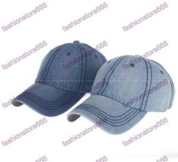 Wholesale Low Profile Ball Caps - 2017 fashion Pure color Denim Vintage Hats Snapback Unconstructed Low Profile Plain Washed Baseball Caps for men and Women