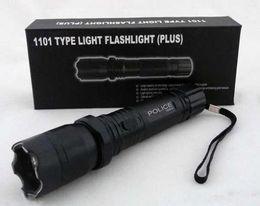 Wholesale New Cree - Hot Sale New 1101 Type Edc Linternas Light Cree Led Tactical Flashlight Lanterna Self defense Torch 18650(built-in) Free Shipping