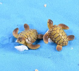 Wholesale Turtle Supplies Wholesale - 30pcs shiping free mini animal turtle fairy miniature one color as picture,decoration for garden river in patio lawn and garden supplies.