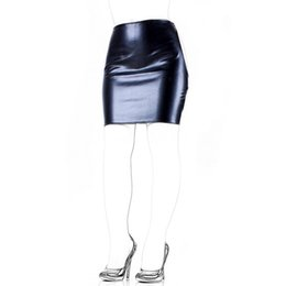 Wholesale adult sexy dress - Adult Sex Products Faux Leather Slave Spanking Skirt Open Hip Bondage Fetish Lingerie Erotic Sexy Lace Up Mini Dress