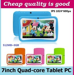 Wholesale Tablet Android Ship Dhl - 7 inch Kids Tablet PC RK3126 Quad Core 8G ROM Android 5.1 With Children Educational PAD for Children DHL free shipping
