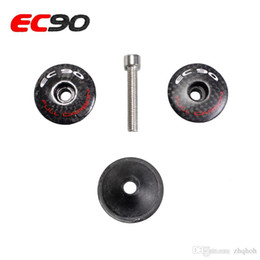 Wholesale Cover Top Headset - EC90 carbon fiber bicycle parts headset top cap mtb bike washer or stem cap carbon road cycling fork cover 8g