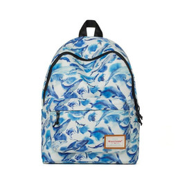 Wholesale Korean Bags For Sale - 2017 New Backpack Korean Style Fashion Bag Hot Sale for Women Travel Backpack Cartoon Whale Printed School Bags