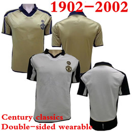 Wholesale Positive Side - 1902-2002 United Century classic two-sided double-layer soccer jersey 1902 2002 Man jersey positive and negative wear design LUKAKU shirts