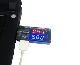 Wholesale Usb Current Voltage - Wholesale- 2015 newest USB Current Voltage Tester USB Voltage Ammeter USB Detector Double Row Shows New Factory price DROPSHIPPING