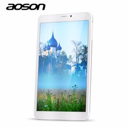 Sensor g incorporado online-Al por mayor-Aoson M86TG incorporado teléfono 3G llamada Tablet PC Android 5.1 Lollipop 8 pulgadas plata IPS capacitiva pantalla táctil 1GB + 8GB wifi GPS