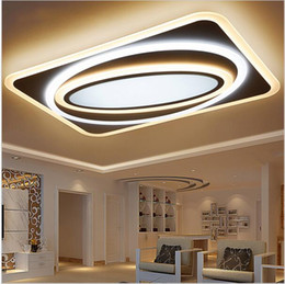 Wholesale Modern Square Ceiling Lights - Modern Led Ceiling Chandelier Lights For Living Room Bedroom Rectangle Square New Acrylic Led Ceiling Chandelier Lamp Fixtures