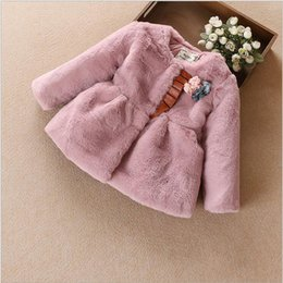 Wholesale Childrens Down Jackets - kids coats girls winter 2016 new fashion high-grade flowers children thick winter jacket for girls cute 2-6y Childrens clothes