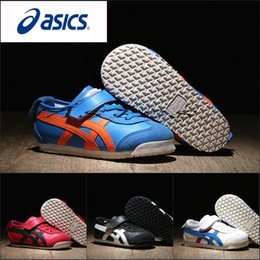 Wholesale Kids Hunting Boots - 2017 Wholesale Asics OnitsukaTiger Children's Shoes C6B5Y-4209 Running Shoes Boys Girls Shoes Kids Original Sneakers Sports Boots