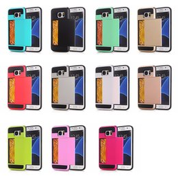 Wholesale Transparent Flip Covers For S4 - Practical Magnetic Detachable PU Leather Flip Card Wallet Case Cover For Samsung S7 S6 S5 S4 S3 Note 5 4 3