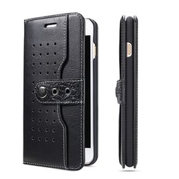 Wholesale Iphone Cases Cowboy - Fierre Shann Cowboy PU Leather Flip Cover Side Card Holder Wallet Case for iPhone 7 6s 6 plus Samsung S7 Edge Retailpackage