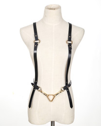 Wholesale Harness Belt Fashion - Wholesale- Harness,women and men Belt female fashion trend of the chain genuine leather waist decoration binding to Clavicle