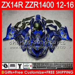2019 ninja de prata Carroçaria Para KAWASAKI NINJA ZZR1400 14 R ZX14R 12 13 14 15 16 64NO20 Azul prata ZZR 1400 ZX-14R ZX 14R 2012 2013 2014 2015 2016 Kit de Carenagem ninja de prata barato
