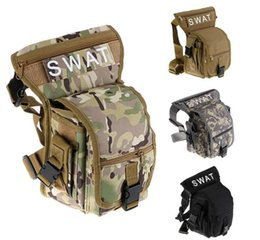 Wholesale Drop Leg Bags - Outdoor sports bag waterproof travel tactical leg riding Men's Canvas Drop Leg Bag Waist Fanny Pack Belt Hip Bum Tactical Motor