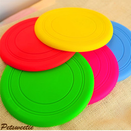 Wholesale Pet Fly - Pet Toys for Dogs Dog Frisbee Multi Colors Soft Toys Throwing Safe Non-Toxic Perfect For Pets Outdoor Playing Training