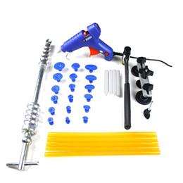 Wholesale Pdr Glue Puller Kit - PDR Tools Set Paintless Dent Repair Tools Dent Puller Tabs Sucker Suction Cup Hot Melt Glue Stick Hand Tools Kit Ferramentas