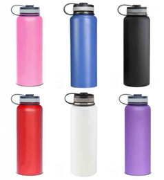 Wholesale Metal Lids Wholesale - 18oz 32oz 40oz Vacuum water bottle Insulated 304 Stainless Steel Water Bottle Wide Mouth big capacity travel water bottles
