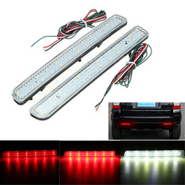 Wholesale Led Rear Bumper Reflectors - 2x 24 LED Rear Bumper Reflector Parking Brake Running Turning Light For Land Rover Discovery 3 4 L320 Facelift