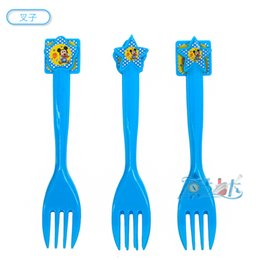 Wholesale Supplier Party Supplies - Wholesale-36pcs lot spoon fork knife baby mickey birthday kids baby party paper kids birthday suppliers Theme Supplies Decoration