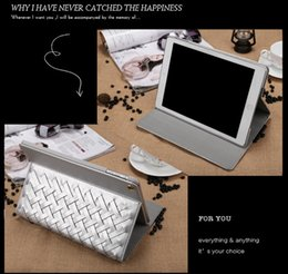 Wholesale Handbag Ipad Air Cases - New design handbag style woven PU leather case for apple ipad 2 3 4 ipad mini 1 2 3 ipad air 1 2 pro 9.7'' with auto sleep wake