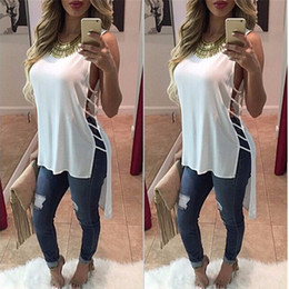 Wholesale Tshirt Summer Fashion Women - Wholesale- 2016 solid hole t shirts kawaii women summer camisas tee shirt femme top ropa poleras de mujer tumblr irregular clothing tshirt