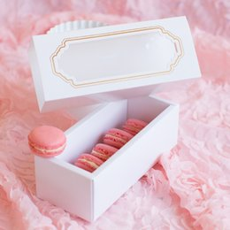 Wholesale Window Cookie Boxes - Cake Macaron Box Paper Boxes with Window Food Bakery Gift Packaging for Cookie Chocolate Candy Box with Inserts Party Supplies 10Pcs lot