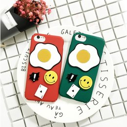 Wholesale New Egg Cases - 2017 New Cell phone cases For iPhone 7 3D frosting cute cartoon eggs Cases hard Silicone Back Cover for iPhone 7 6S plus DHL free shipping