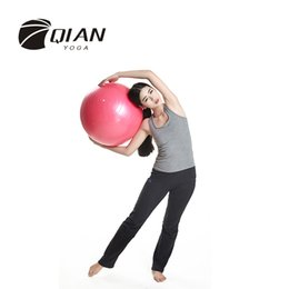 Wholesale-QIAN YOGA Professional 55CM Fitness Exercise Swiss Gym Fit Yoga Core Ball Abdominal Back Leg Workout High Quality Coupon