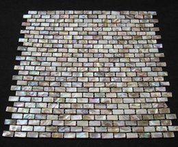 Wholesale Brown Tiles - Wholesale Brick Brown Mother of Pearl Shell Tiles for Bathroom or Kitchen Tiling