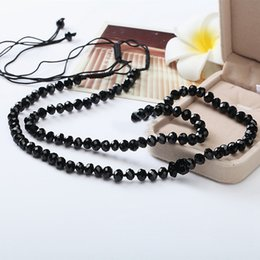 Wholesale Beaded Stone Necklaces - 2017 Stone Beads Bear Necklace For Women Hand Made Traditional Unique Design Hot Selling Black Cute