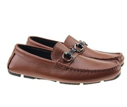 Wholesale Designer Career Dresses - 2017 Designer brand male casual flats shoe cowhide leather Slip-on Mocassin Metal Button men's suit shoe Zapatillas 40-46