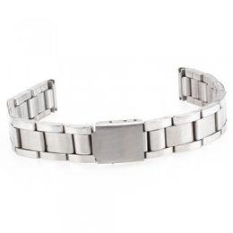 Wholesale New Models Men Bracelets - Wholesale-2015 New Men Women 12mm Silver Alloy Watch Band Strap Bracelet Curved End Model 1,Wrist Watchband SB0578