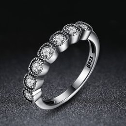 Wholesale Cushion Pave Engagement Ring - Authentic 925 Sterling Silver Rings Alluring Cushion Clear CZ Finger Rings Women Engagement Jewelry R097