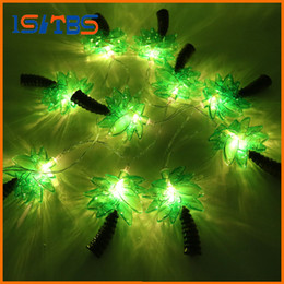 Wholesale Coconut Lights - New Novelty 10 LED Coconut Tree Lighting String Party Lamps Led Christmas Lights Garden Pendant Garland