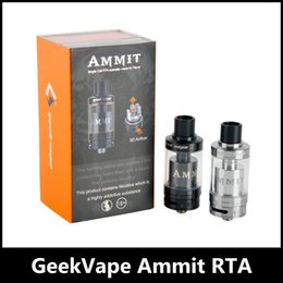 Wholesale Flow Large - 100% Original GeekVape Ammit RTA 3.5ml RDTA Tank Style Juice Flow Channel Atomizer Large Deck for Convenient Coil Building by DHL free